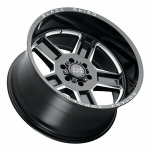 4 new 22 Black Rhino Canon Wheels 22x11 5 8x6 5 8x165 1 44 Black Milled Rims