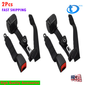 2pcs Universal 3 Point Retractable Seat Belts Fit For Jeep Cj Yj Wrangler 82 95