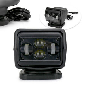 7 60w Led Search Light Rotating Remote Control Driving Spot Light Fit Truck Car