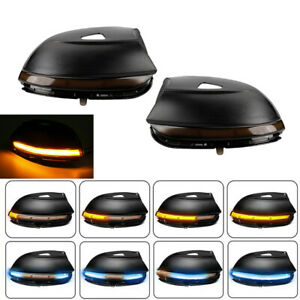 2x Led Dynamic Turn Signal Light Mirror Indicator For Vw Passat B7 Cc Scirocco