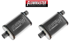 Flowmaster Flowfx Muffler Pair 2 5 Offset In Center Out Moderate Sound 71226