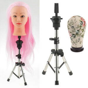 21 Cork Canvas Block Mannequin Head For Wig Making With Tripod Stand