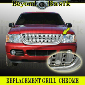 2002 2003 2004 2005 Ford Explorer 4dr Vertical Bar Style Triple Chrome Grill