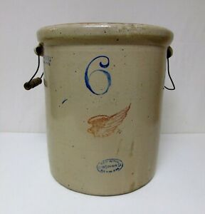 Red Wing Stoneware Crock 6 With Handles