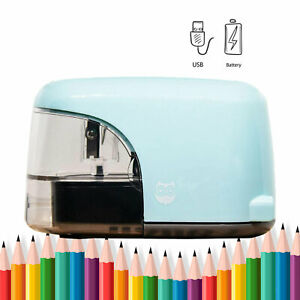 Electric Pencil Sharpener Usb Plug In Battery Power Automatic Sharpener