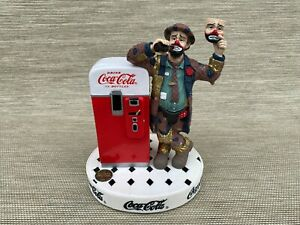Coca Cola Emmett Kelly Put On A Happy Face Figurine Limited Edition