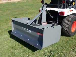 Titan 3104 48 Box Blade For Compact Tractors 3 Pt Hook Up 2 Shanks 15 45 Hp