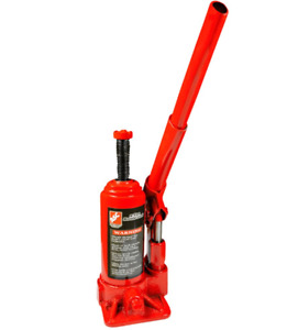 Durable Hydraulic Bottle Jack 2 Ton Manual Pump Wide Base 3 5 In Lift Height