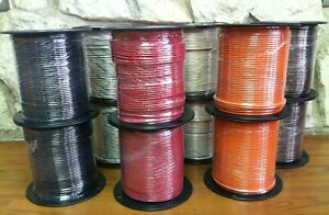 500 Ft Thhn thwn Wire 12 Awg Stranded 600 Volt Made In Usa Black Or Striped