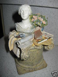 Figi Bust Still Life Covered Paper Clip Stamp Or Small Jewelry Box Holder