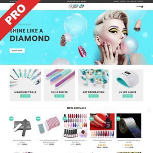 Nail Art Manicure Store Professional Dropshipping Website Turnkey Business