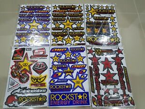 6x New Rockstar Energy Motorgp Sticker Decal Motorcycle Motorcross Sticker