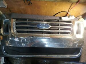 2006 2010 Ford Explorer Eddie Bauer Edition Front Bumper Chrome Grille Oem 06 10