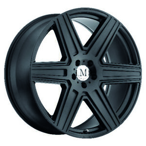 Mandrus Atlas Rims Wheels For Mercedes 17x8 5x112 Matte Black Qty4