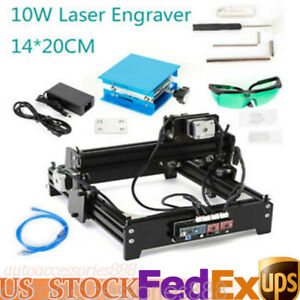 Upgraded 10w Cnc Laser Engraver Cutting Machine Usb Crafts Cutter Printer Kit