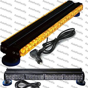 25 Led Magnetic Light Bar Advisor 144w Warning Strobe Flash Bar Roof