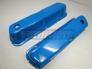 64 01 Small Block Ford Sbf Valve Cover 260 289 302 351w 5 0l Blue Mustang V8 Rod