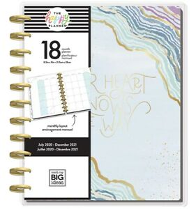 The Happy Planner Big Modern Geode 18 Mo July 2020 Dec 2021 Vertical Layout New