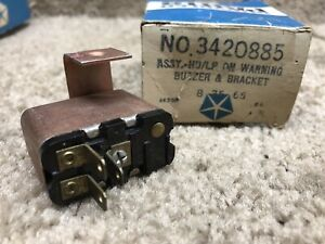 Mopar Nos 1970 Plymouth Fury Dodge Charger Ignition Key Warning Buzzer 70 B body