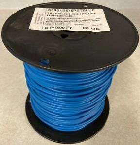 500 Ft Underground Pet Fence Wire 18awg Solid Blue 45 Mil Jacket made In Usa