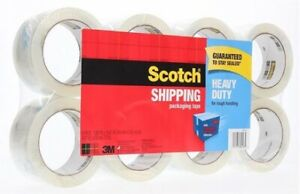 Lots Of 2 Scotch 3m Clear Heavy Duty Shipping Packing Tape 8 Rolls Total 872 Yd