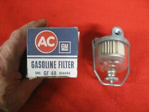 Corvette Nos Fuel Filter 1x4 2x4 Dual Four 1959 1960 1961 1962