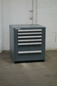 Used Stanley Vidmar 6 Drawer Cabinet 33 High Industrial Tool Storage 2154