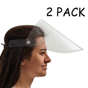 Premium Reusable Safety Face Shields Protect Face Mask Clear Vision Adjustable