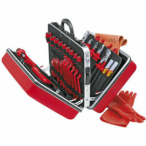 Knipex 98 99 14 Universal Tool Set 1 000v Insulated 48 Pc