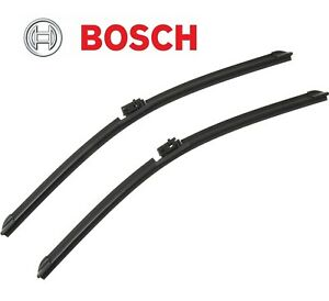 For Mercedes W205 Pair Set Front Left Right 22 Windshield Wiper Blades Bosch