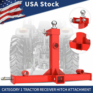 Trailer Hitch Gooseneck Ball Spear Receiver Cat 1 Tractor Drawbar Hay Attachment