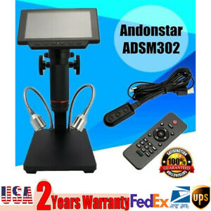 Professional Adsm302 Display Remote Control Microscope Magnifier For Pcb Repair