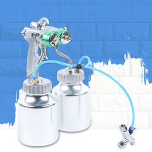 Dual head Polyurethane Foam Spray Machine Automatic Paint Spray Gun 2 1l Pot