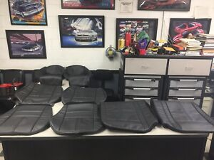 1982 1992 Chevy Camaro Z28 Iroc z Rs Front And Rear Seat Covers In All Black