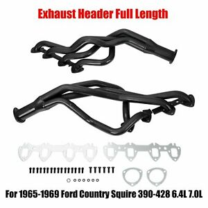 For 1965 1969 Ford Country Squire 390 428 6 4l 7 0l Exhaust Header Full Length