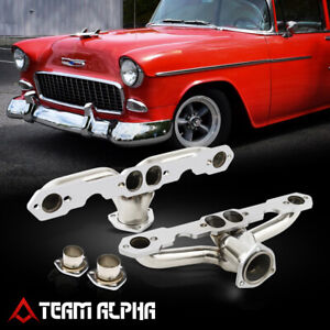 Fits 1955 1957 Small Block Chevy Tri 5 Hugger Style Ss Exhaust Manifold Header