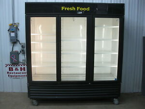 True Gdm 72 Glass 3 Three Door Merchandiser Reach In Refrigerator Cooler