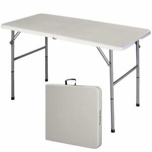 Giantex Folding Table Portable Picnic Party Dining Camp Tables White Modern Desk
