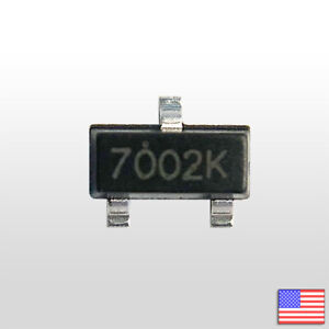 10x 2n7002k Sot 23 Smd N channel Mosfet 60v 380ma 2n7002 Fast Ship From Usa