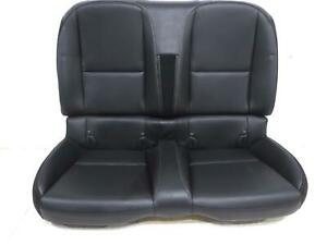 Chevy Camaro Convertible Leather Rear Seat Black 2010 2011 2012 2013 2014 2015