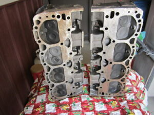 Good Used Small Block 350 400 Chevy Cast Heads Casting 462624