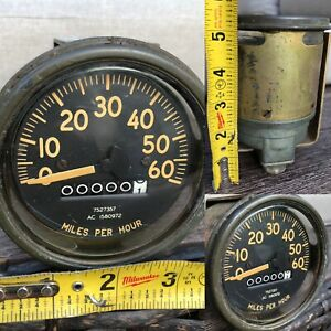 Nos Ww2 1940s Antique Vtg Jeep Willys Speedometer Army Truck Green Ford Rare