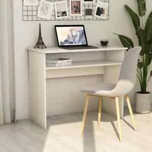 Vidaxl Desk White 35 4 Chipboard Writing Computer Study Office Work Station