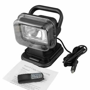 Road Spot Light Hid 75w Xenon Rotating Remote Control Search Auto Work Boat