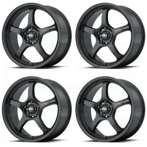 4 new 17 Motegi Mr131 Wheels 17x7 17x8 5x114 3 45 40 Satin Black Staggered Rims