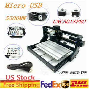 Diy Laser Engraving Machine Kit Wood Carving Cutting Desktop Printer Tool 5500mw