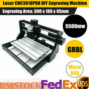 3d Cnc Laser Engraving Cutting Machine 5500mw Cnc Diy Logo Mark Printer Engraver