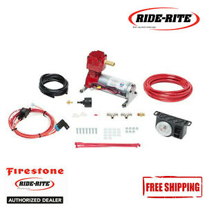 Firestone Level Rite Heavy Duty Air Compressor With White Face Gauge