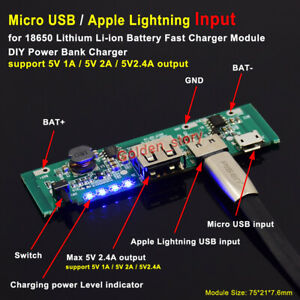 Micro Usb 5v 2a Lithium Li ion 18650 Battery Charging Board Fast Charger Module