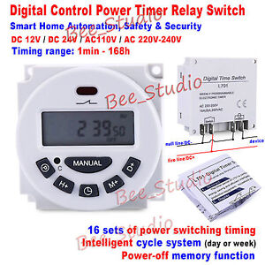 Multi period Clock Timer Relay Switch Cycle Intelligent Home Automation Module